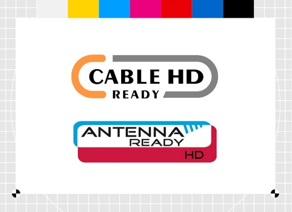 Cable HD Ready ja Antenna HD Ready -logot